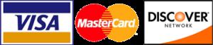 We Accept Visa, MasterCard & Discover