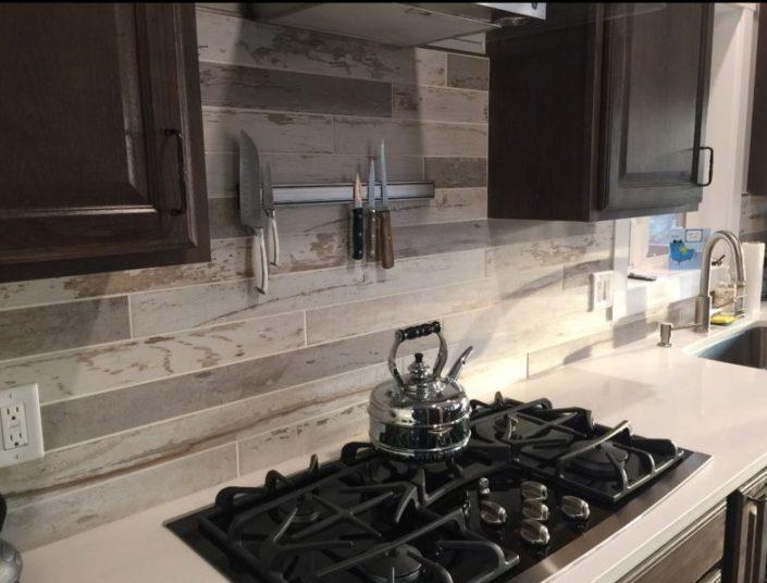 Charleston Porcelain Tiled Kitchen Backsplash