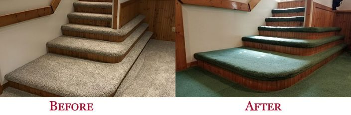 Before & After Shaw Carpet