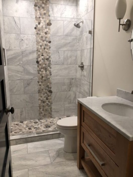 Ceramic Shower with Riverstone