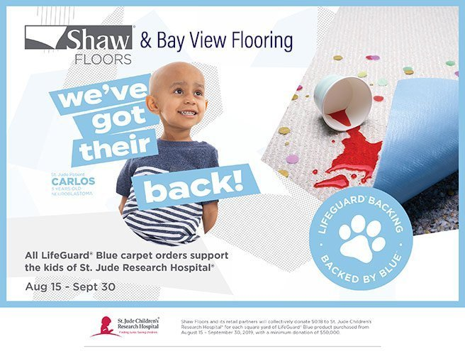 Bay View Flooring Supports St. Jude