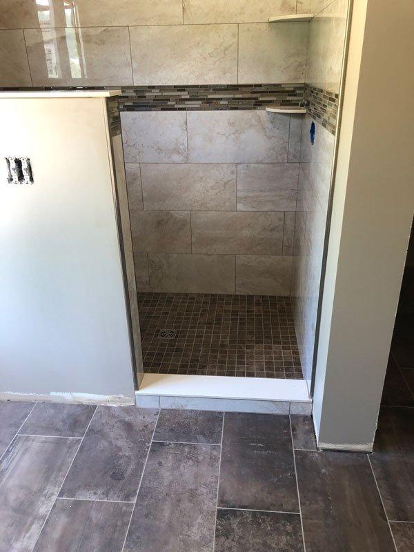 Custom Tile Work with Back Splash