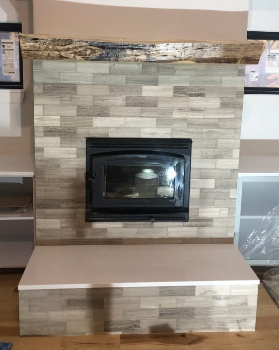 Custom Fireplace Backsplash